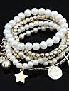 Dame Bratari Wrap Perle Aliaj Design Unic La modă Bijuterii Auriu Alb Argintiu Bijuterii 1 buc