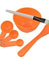 DIY Beauty Tredelad Mask Bowl + Mask Stick + portionering Device (Random färger)