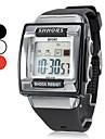 Bărbați Ceas Sport Ceas digital Piloane de Menținut Carnea LCD Calendar Cronograf alarmă Bandă Negru Alb Pink Alb Negru Roz