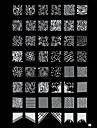 nagel konst Stamp Stamping Avbildar mallen plåt Sött