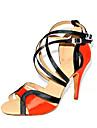 Chaussures de danse (Noir/Rouge/Bleu/Or) - Personnalisable Satin - Danse latine/Salle de bal