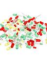 3mm & 5mm lysdiod - Grön + Röd + Gul (100-Piece Pack)