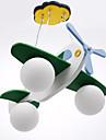 moderna kreativa barnkalas 3 ljus hänge i form av flygplan