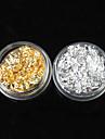 12st 2-färg Guld & Silver Leaf nagel konst Dekorationer