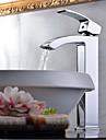 Contemporain Vasque Cascade with  Valve en céramique Mitigeur un trou for  Chrome , Robinet lavabo
