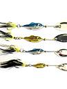 fiske 3-krokar med fisk-formad glänsande metall lockbete (6g, 11g, 15g, 20g)