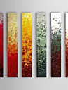 Peint à la main Peinture à l'huile abstraite avec cadre étiré Lot de 6 1308-AB0566
