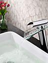 badrum handfat kran samtida glas pip enda handtag vattenfall kran