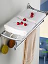 Rechinii d pește din oțel inoxidabil placat cu crom-pliată baie prosop rack de baie hardware accesorii raft de sticla baie