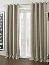 Två paneler Fönster Behandling Modern , Solid Living Room Polyester Material Blackout Gardiner draperier Hem-dekoration For Fönster