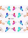 4pcs New Water Transfer Printing Nail Art Stickers Papillons Series