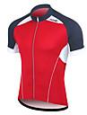 Santic Män s Cykling Road Bike 100% polyesterfiber T-tröja (Röd)