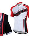 SANTIC® Cykeltröja med shorts Herr Kort ärm CykelAndningsfunktion / Snabb tork / Vindtät / Anatomisk design / Ultraviolet Resistant /