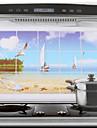 75x45cm Sea & Sail Modèle étanche à l'huile imperméable à l'eau sticker mural de cuisine