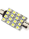 Festoonen 41mm 1.5W 16xSMD3528 White Light LED lampa för bil Läslampa (12V)