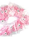 500 Pro Pink Franska Falska Akryl Nail Art Tips