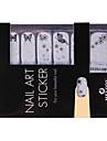 14st Nail Art Stickers ren färg glitter pulver serien Black Butterflies