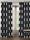 Deux Panneaux Le traitement de fenêtre Méditerranéen , Tartan Salle de séjour Polyester Matériel Rideaux Tentures Décoration d'intérieur