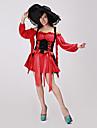 Costumes de Cosplay / Costume de Soirée Pirate Fête / Célébration Déguisement Halloween Rouge Mosaïque Robe / Casque Halloween / Carnaval