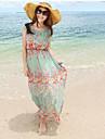 Femei Lovely Flower Beach șifon Maxi Dress tipar aleatoriu Situația Accesorii