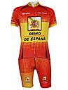 Kooplus2013 Championnat Jersey Espagne polyester et lycra et élastique costumes de recyclage de tissu (T-shirt + Bib-Pants)