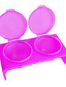 Double-trou Rose Plastic ongles en acrylique Art tremper outil Bowl