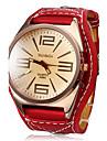 pentru Doamne Ceas Elegant Ceas La Modă Ceas de Mână Quartz Piele Bandă Roșu
