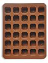 Silicone petites lettres Forme cuisson fabricant de plateau de moule de chocolat