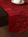 Rouge Polyester Rectangulaire / Carré Chemins de table