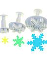 Snowflake Sex skivform Plunger Cutter Set av 3 st
