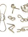 7pcs Classic Knot Intellectual Avdrag IQ Teaser ring pussel leksak Vägledning ingår