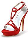 Nuptiale élégante de satin sandales avec des chaussures de mariage strass (plus de couleurs)
