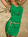 Femeile lui Green captivant Halter Tube de moda rochie mini cu betelie