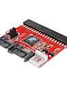 0,2 0.6ft nya 3,5 ide hdd med sata 100/133 Serial ATA omvandlare adapter + kabel