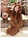 Femei Coral Fleece Leopard Wear Lounge