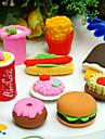 fast food forme jeu de gomme (4 pièces)