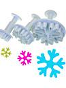 Flocon de neige à cinq branches Forme coupeur de plongeur Set de 3 pièces