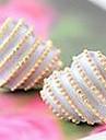Coreeană bijuterii cercei piersici dungi dragoste inima (de culoare aleatorii)