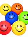 Happy Face Mönstrad Stressbollar Reliever Gummi (slumpvis färg)