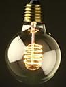 E27 40W Glödlampa Ball Bulb med vit skärm