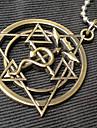 Bijoux Inspiré par Alchimiste d'acier Edward Elric Anime Accessoires de Cosplay Colliers Doré Acier inoxydable Masculin