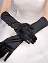 Rouge / Blanc / Noir longs gants de satin d'Halloween pour les femmes