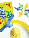 mat väska tätning tätning klipp med täckknapp (slumpmässig färg)