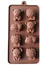 Moule de Cuisson Animal Pour Gâteau Pour Cookie Pour Tarte Silikon Haute qualité 3D Bricolage