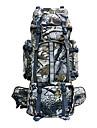 80 L Backpacker-ryggsäckar Ryggsäck Camping Klättring Resa Utomhus Vattentät Regnsäker Damm säker Bärbar Kamoflage Polyester