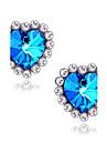 Cercei Stud Safir Iubire bijuterii de lux Piatră Preţioasă imitație de diamant Aliaj Heart Shape Star Shape Albastru Bijuterii Pentru