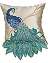 broderie polyester taie d'oreiller décoratif de paon traditionnel