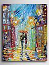 Peint à la main Personnage Verticale,Moderne Traditionnel Un Panneau Toile Peinture à l'huile Hang-peint For Décoration d'intérieur