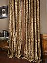 twopages® två paneler rokoko vitage blomma jacquard energibesparing gardin drapera