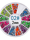 yemannvyou®6 couleurs rivet rond 2mm nail art décorations